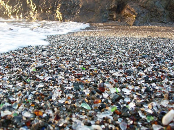 glass pebbles at Glass Beach Fort Bragg, California