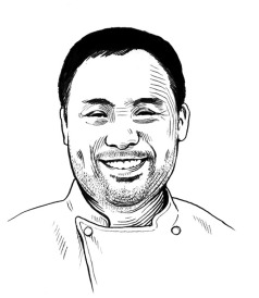 Illustration of David Chang